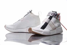 Wholesale Casual Socks Shoes - Off White x Originals NMD City Sock Gum Running Shoes S75831 Top Quality Mens Outdoor Boost Training Sneaker Shoes Real Boost Casual Shoes