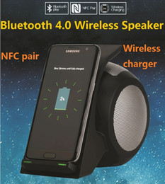 Wholesale Touch Galaxy Nexus - bluetooth speaker NFC Wireless Bluetooth Speaker wireless chargers fast charger for samsung galaxy S8 s8 plus lg nexus
