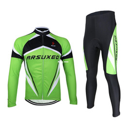 Wholesale Jersey Winter Compression - ARSUXEO Cycling Bike Bicycle Long Sleeves Compression Fitness Jersey Shirt Wear Winter Thermal MTB Casual Shirt Running Shirt Size M-3XL