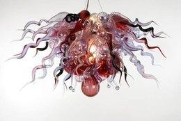 Wholesale Clear Blown Glass Chandelier - AC 110V 220V CE UL LED Light Source European Type Italian Dale Chihuly Style Clear Blown Glass Chandelier