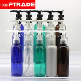 Wholesale Beverage Bottles Wholesale - Wholesale- 10PCS LOT-100ML Spiral Lotion Pump Bottle Plastic Cosmetic Container,Empty Shampoo Essence Oil Sub-bottling