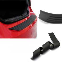 Wholesale Rubber Bumper Strips - 90cm Universal Car Trunk Rubber Bumper Auto Rubber Mouldings Trim Rear Guard Plate Car Protective Strip Car-styling