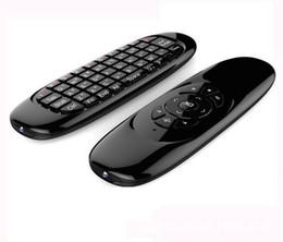 Контроллер smart tv онлайн-Гироскоп Fly Air Mouse C120 беспроводная игровая клавиатура Android пульт дистанционного управления аккумуляторная клавиатура для Smart TV Mini PC