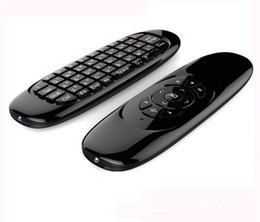Giroscópio mouse sem fio android on-line-Giroscópio Fly Air Mouse C120 Teclado Sem Fio Do Jogo Do Controle Remoto Android Teclado Recarregável para Smart TV Mini PC