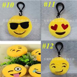 pantofole animali imbottiti Sconti portachiavi giocattoli del bambino farcito bambola giocattolo QQ giallo Espressione della moda di New 6 centimetri Emoji Smiley per pendente del sacchetto mobile