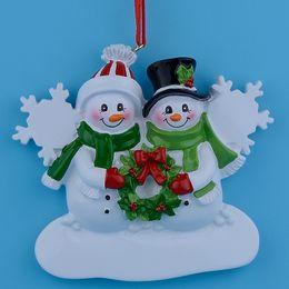 Résine de bonhomme de neige en résine suspendue avec des ornements de Noël lustrés comme souvenirs d'artisanat pour des cadeaux personnalisés de 2018 ou des décorations de maison ? partir de fabricateur