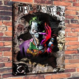 Wholesale Batman Arts - Joker Batman DC Superheroes Comic Pop,Home Decor HD Printed Modern Art Painting on Canvas (Unframed Framed)