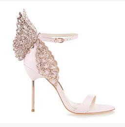 Wholesale Ladies Butterfly Sandals - Sophia Webster Butterfly Sandals Fashion Sophia Webster Evangeline Angel-wing Sandals High Heeled Stiletto Ankle Strap Lady Sandals Shoes