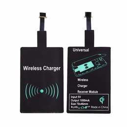 Wholesale Film Charger - Universal Qi Wireless Charging Receiver Wireless Charger Film Chipset for Micro-usb Type-C Android Phone Iphone 5S 6S 7 Samsung Galaxy S5 S6