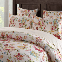 Wholesale Queen Size Comforters Sets - Home textile Classic American country style 100% luxury Egyptian cotton 4pcs Bedding sets Romantic Marseille twin king queen size bedsheet