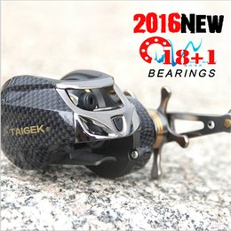 Wholesale Ice Fly Lure - Professional Brand Baitcasting Reel 18+1 Ball Bearings Fishing Gear Water Drop Wheel Bait Casting Fishing Reel Lure Reel