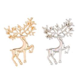 Bijoux sika en Ligne-Classique À La Mode Elk Broche En Métal Sika Cerf Boucle Broches Pour Femmes Bijoux Accessoires De Noël De Noël Cadeaux En Gros 12 Pcs