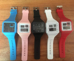 Wholesale Gold Pins Electronic - Hot Design United States famous Luxury brand Sports brand style AD watch Outdoor sports silicone LED electronic watches