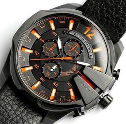 Wholesale Quartz Movt - Men Watches Double Quartz Movt Gold Watch Wristwatches Big Dial Brand Sport Quartz Watches Relogio Masculino 170814