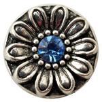 Wholesale Metal Fashion Jewelry Flowers - B00144 noosa metal Flower enamel 12mm mini snap button chunk for 12mm leather bracelet ladies fashion jewelry