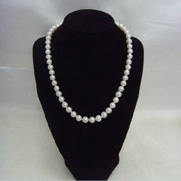 Wholesale Imitation Necklaces - Chic Single Strand Faux Imitation Pearl 6mm Pearl Bib Statement Necklace Jewellery Gift Fashion Womens Short Chain Fine Jewelry For Women