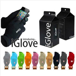 Wholesale Iphone Touch Screen Gloves - iGlove Capacitive Touch Screen Gloves Men Women Unisex Winter Outside Iglove For iPhone iPad Samsung Smart Phone With Retail Package