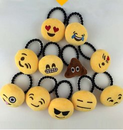 Wholesale Rubber Hair Pins - Emoji Hair Rope Cute Cartoon QQ Emotion Hair Accessories Hairband Lovely Tie Ring Pin Hairpin Girls Womens Hair Clasp Rubber Bands