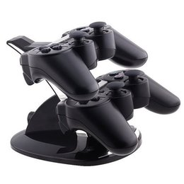 Wholesale Dock Lights - Free Shipping LED Light Dual USB Charging Dock Stand Charger For Sony PlayStation 3 PS3 Controller