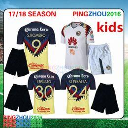 Wholesale Wholesale Jersey S America - america kids kit 2017 2018 mexico club america soccer jerseys 2017 2018 A.TENA O.PERALTA SAMBUEZA home away football shirt DHL Free shipping