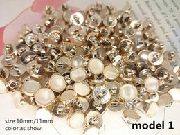 Wholesale Lace Sweater Shirts - 50PCS 10mm Sewing Accessories high quality rhinestones decorative buttons Suitable for lace shirt, skirt, cardigan sweater