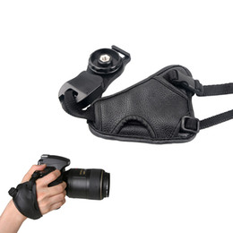 Wholesale Vintage Quality Camera - Andoer High Quality Soft Hand Grip Vintage PU Leather DSLR Camera Wrist Strap Belt for Nikon Canon Sony SLR DSLR Camera