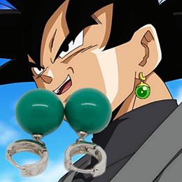Wholesale Dragon Stud Earrings - Dragon ball dragonball Potara Cosplay earrings Zinc Alloy DBZ Super Saiyan Kai resin earrings Lovely Gift Toys classic toys jewelry 2017