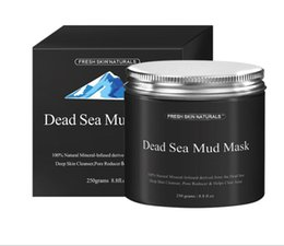 Wholesale Black Mask Collagen - New Dead Sea Mud Mask Deep Cleaning Hydrating Acne Blemish Black Mask Clearing Lightening Moisturizer Nourishing Pore Face Cleaner