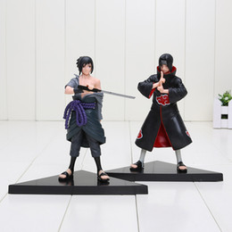Wholesale Sasuke Itachi Figure - 2pcs set Anime Naruto figure Uchiha Sasuke + Uchiha itachi PVC Action Figures Collectible Model Toys approx 16cm packed in opp bag