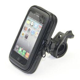 Wholesale Handlebar Bag For Iphone - Wholesale-Bike Bag Bicycle Waterproof Bag Phone Case Pouch Handlebar Mount Holder For iPhone 5 6 6 PLUS