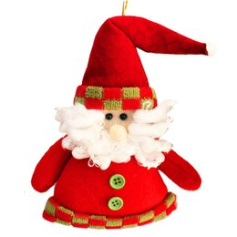 Wholesale Outside Christmas Trees - 2016 Christmas Decoration Pendants Outside Christmas Tree Hanging Ornaments Santa Claus Snowman Deer Doll for Home Deocr SD111