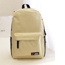 Wholesale School Girl Korea - New Korea Large Capacity Solid Oxford Backpack Women Travel School Bags for Teenager Boys and Girls
