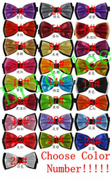 Wholesale Groom Tie Cravat - New 2017 Bow Tie Fashion Male Bow Ties for Men Married Groom Color Block Decoration Butterfly Block Color Bow Cravat Bowknot