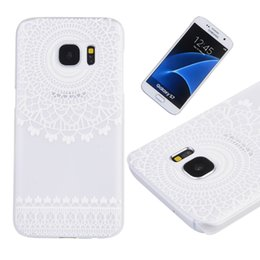 Wholesale Galaxy S4 Elephant Case - Samsung Galaxy S7 S6 edge S5 S4 mini note5 Flower Elephant Mandala Pattern transparent Hard Back Case cartoon phone cases
