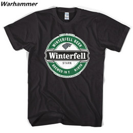Wholesale House Shirt - Warhammer A Song of Ice and Fire House Lannister T-shirt short sleeve Game of Thrones stark shirts O-neck Print Winterfell Tee Shirt Homme