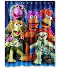 Wholesale Fraggle Rock Design Shower Curtain Size x cm Custom Waterproof Polyester Fabric Bath Shower Curtains