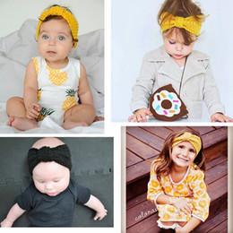 2019 accessoires d'hiver de mode en gros En gros de mode 13 couleurs mignon style boho laine tricoté bébé bandeau hiver doux bébé cache-oreilles accessoires pour cheveux accessoires d'hiver de mode en gros pas cher