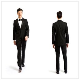 Wholesale Mens Grey Skinny Suit - Online Shopping New (Coat+Pants) SU208 Customize Smoking Casamento 2 Pcs Mens Formal Black Wedding Suits Tuxedo World DHL Free Shipping