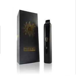 Titani asciutto online-Kit di avvio per vaporizzatore a base di erbe Vaporizzatore Titan 1 con 2200mah Kit di controllo per temperatura a batterie Systerm LCD Dispaly