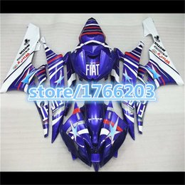 Wholesale yzf r6 fiat - gifts+Blue FIAT Body For 06-07 YZF-R6 YZF600 06 06 07 YZF R6 Hot blue white YZF 600 YZFR6 YZF-600 2006 2006 2007 Fairing Kit