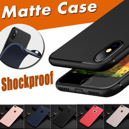 Wholesale Iphone Cover Silicone Gel - For iPhone X Candy Color Solid Shockproof Soft TPU Gel Silicone Ultra Thin Slim Flexibly Matte Frosted Back Cover Case for iPhone 8 7 Plus 6
