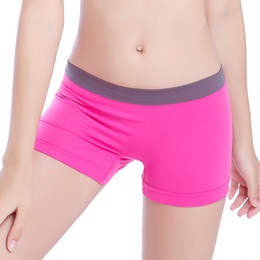 Wholesale Sexy Purple Undies - Wholesale-Woman Boyshorts Seamless Sexy Quick-Drying undies female Box Briefs Underwear Girls Shorts Lingerie Underpants Intimates Q2392