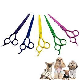 Wholesale inches Professional Premium Sharp Edge Dog Pet Grooming Scissors Shears Pet Animal Scissors order lt no track