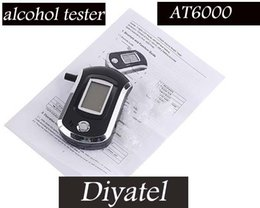 Wholesale Alcohol Tester Best - Wholesale-2016 best selling Portable Breath Alcohol Tester fashion Professional Alcohol Tester free shipping