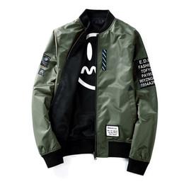 Wholesale Men Original Baseball Jacket - 2017 new men's autumn new jacket original quality jacket Japanese baseball clothes double-sided wear fashion jacket
