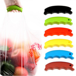Wholesale Grocery Carrier - Hot Simple Silicone Shopping Bag Basket Carrier Bag Carrier Grocery Holder Handle Comfortable Grip Grips Effort-Save Body Mechanics IB360