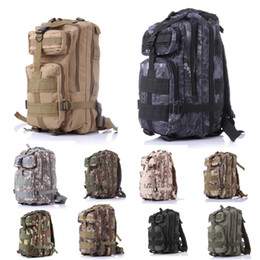 Wholesale Student Swimming - Outdoor Great Design Packable 10 Color Tactical Assault Pack Student School Bag For Hunting Camping Trekking Travel Free DHL E593E