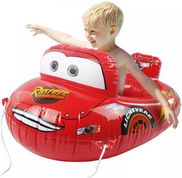 Wholesale Pool Safe - Wholesale- Cool Children Inflatable Safe Swim Seat Swimming Ring Circle Floating CartoonCar Beach Pool Accessary Water Safety Products