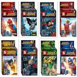 Wholesale Action Games Boys - Superheroes building blocks assembled toys children educational toys SY180 Boys girls Toys & Gifts Action Figures hot sell