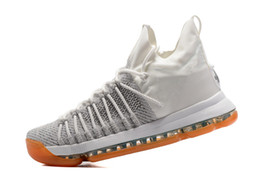 Wholesale Men Kd Shoe Cheap - Summer Pack White grey Mens KD 9 Elite Sneakers,New KD 9 Elite Racer Pink Basketball Shoes,Discount Cheap Sporting Shoes